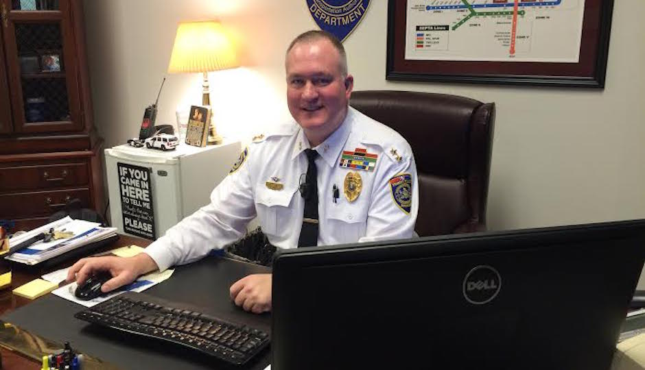SEPTA Police Chief Thomas Nestel III at his Market Street office. | Joel Mathis