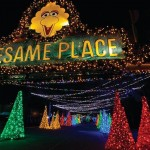 Sesame Place gets all lit up for the holidays. | Photo via Facebook.