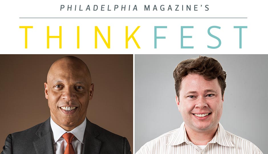 School District of Philadelphia superintendent William Hite and Philadelphia magazine deputy editor Patrick Kerkstra.
