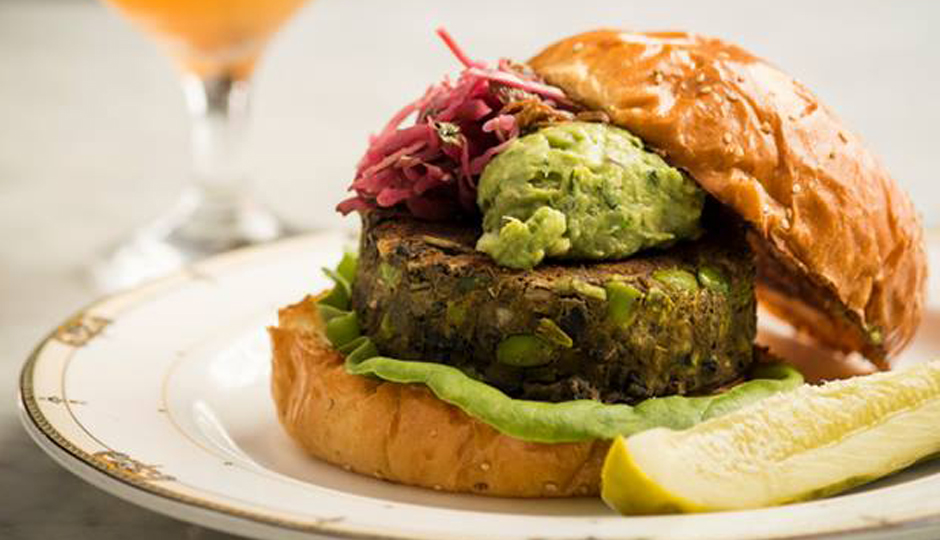Village Whiskey's Veggie Burger | Photo via Facebook