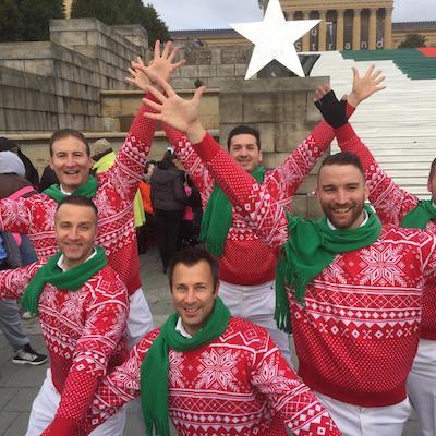 The Philadelphia Gay Men's Chorus perform a holiday hoedown through Saturday.
