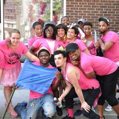 Attic youth and staff at Philly Pride.