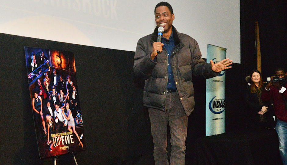 Chris Rock at Ritz 5, promoting his new movie The Top Five.