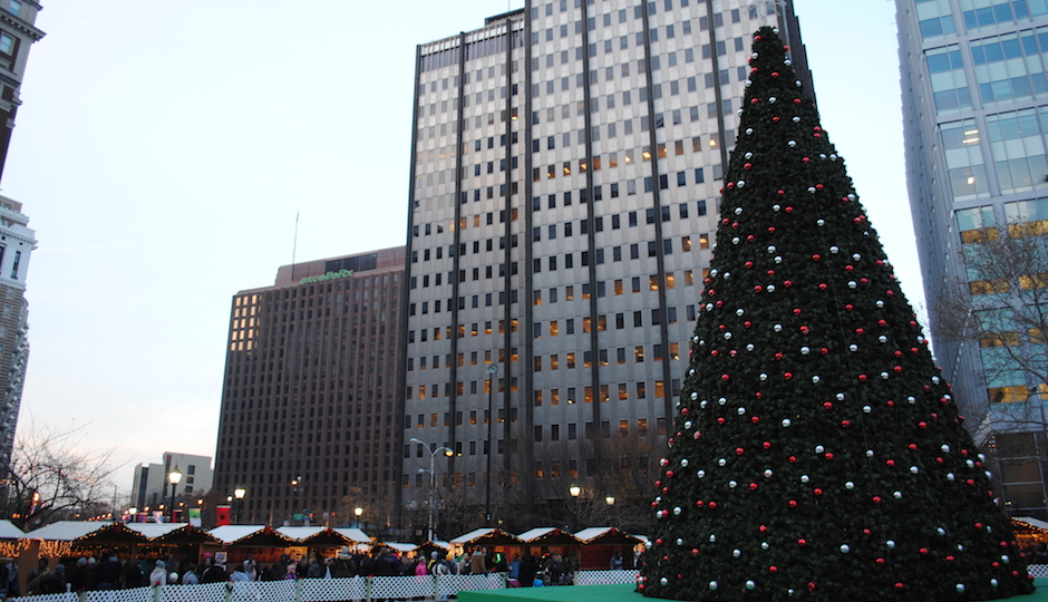 LOVE Park Christmas Tree by Lauren Mame Thomas
