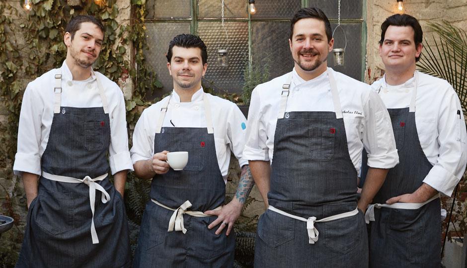 From left, Laurel chefs Kyle McCormick, Edmund Konrad, Nick Elmi, and Paul Becker. | Photo by Michael Persico