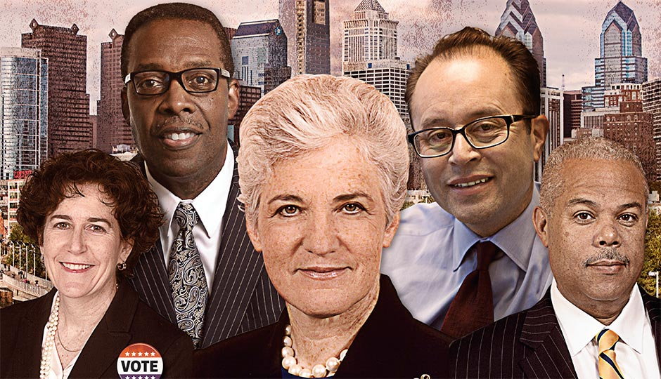 From left: Terry Gillen, Darrell Clarke, Lynne Abraham, Ken Trujillo, and Anthony Williams.