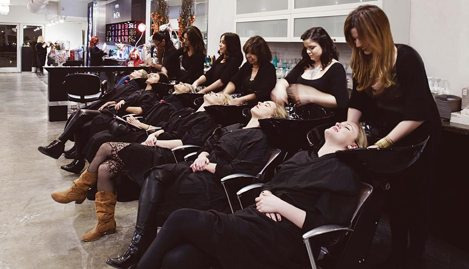 The stylists of Salon Vanity at work. Photograph by Joseph Balestra.