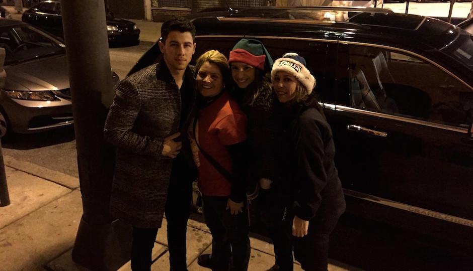 Nick Jonas qirh Kim Righi Noelle Leuzzi and Kellyann Verratti.