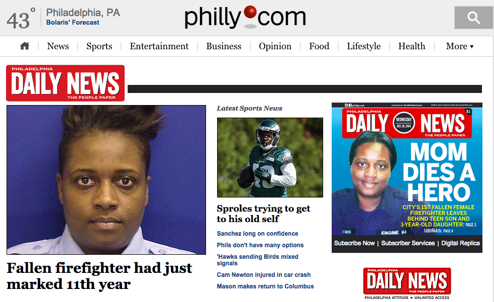 The Daily News website is now a sub-brand of Philly.com.