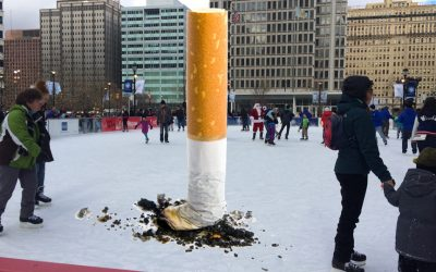 Dilworth Park Cigarette Butt (photo illustration)