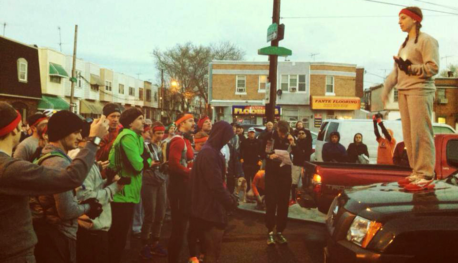 The crowd at last year's inaugural Rocky 50K.