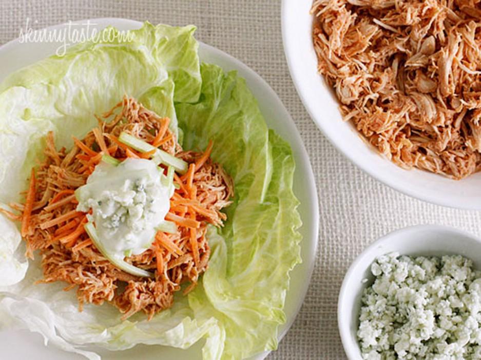 Crock-Pot Buffalo Chicken Lettuce Wraps