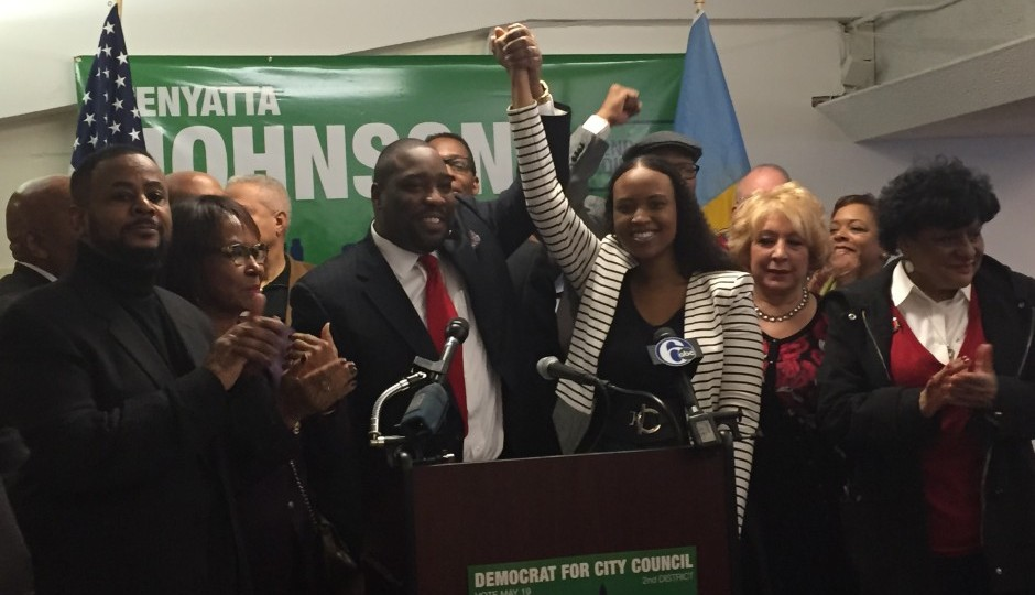 Johnson and a few of his high-powered supporters. Photo courtesy of Johnson's campaign.