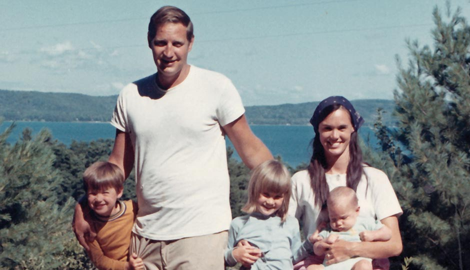John and Bonnie with their children, circa 1969.