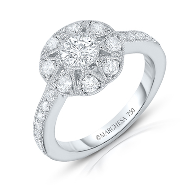 The nine-stone round Antique Star ring from the new Marchesa Eternal Collection.