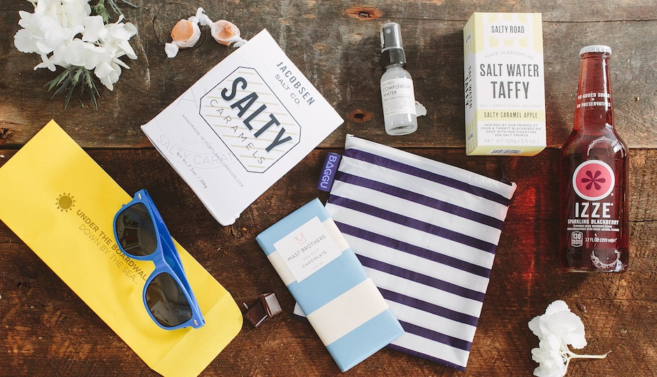 Here's a peek at Sweet Whistle's new shore-themed welcome box.