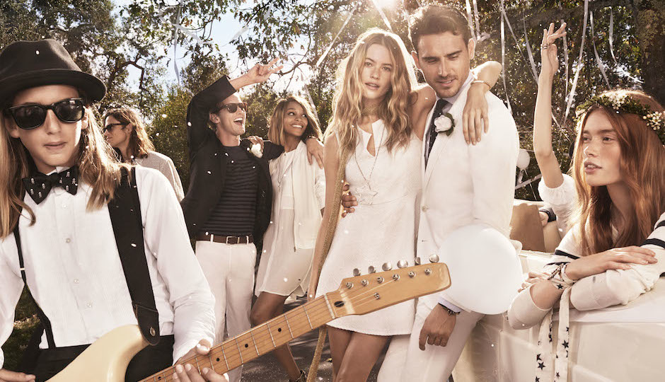 Tommy Hilfiger's spring 2015 line, as depicted in a rocker-chic wedding. All photos courtesy Tommy Hilfiger.