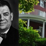 Left: Oscar Hammerstein II. Photo via Wikimedia Commons. Right: Highland Farm. Photo via Highland Farm B&B website