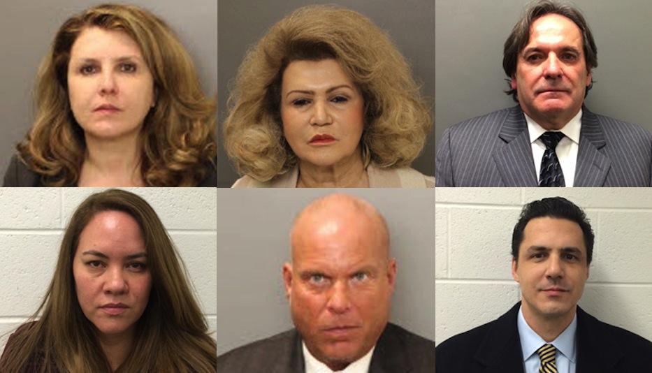 Clockwise from top left: Carla Risoldi, Claire Risoldi, Tom French, Carl Risoldi, Mark Goldman, Sheila Risoldi.