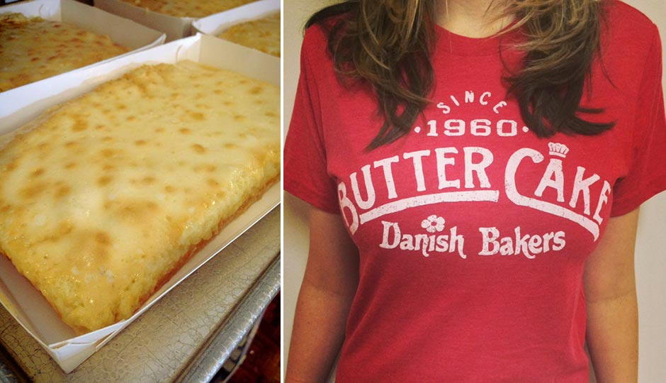Butter cake (courtesy of Danish Bakers ) and the author in her new ...