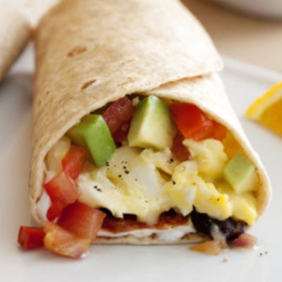 Breakfast burrito | Photo via Bikram University City's Facebook.