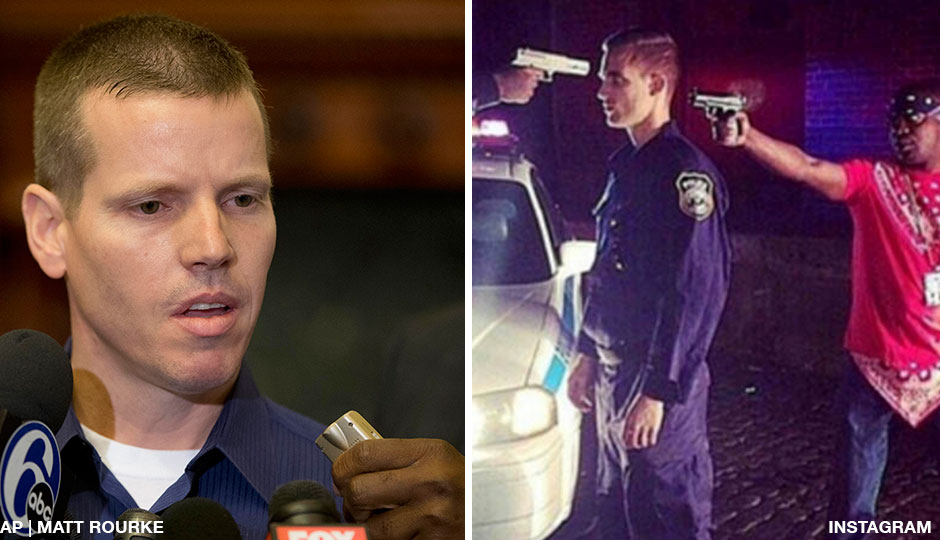 Left: Joe Schulle speaks about the death of Philadelphia firefighter veteran Joyce Craig Lewis on Tuesday, December 9, 2014. Right: Marcell Salters' controversial Instagram post.