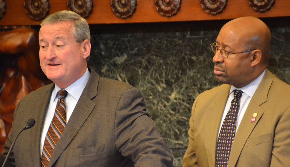 Jim Kenney and Mayor Nutter. | City Council Flickr