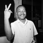 Dr. Martin Luther King, Jr. reacts in St. Augustine, Fla., after learning that the Senate passed the Civil Rights Bill, June 19, 1964.  (AP Photo)