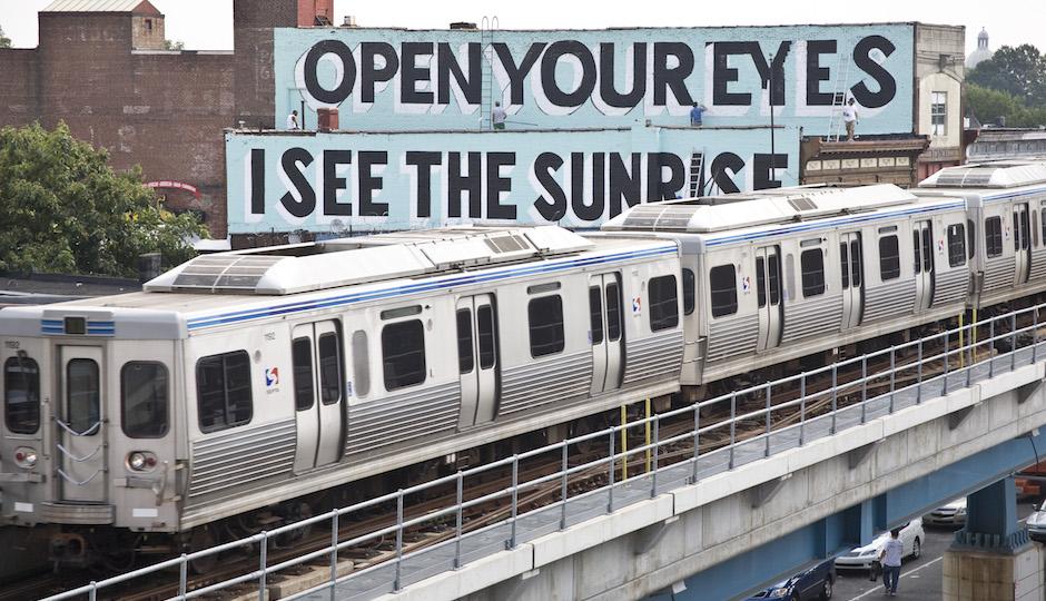 mural arts love train gay couple