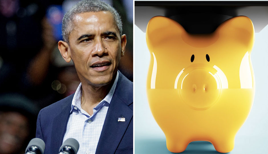 President Obama | Photo Jeff Fusco; piggy bank | Shutterstock.com
