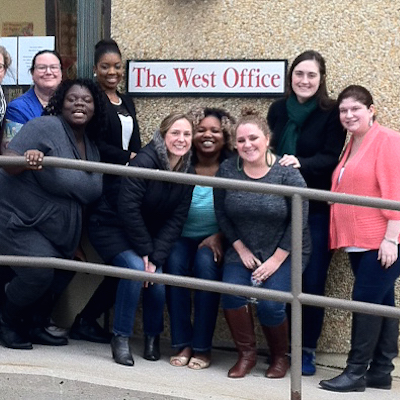 ActionAIDS teammates at the new Annex West.