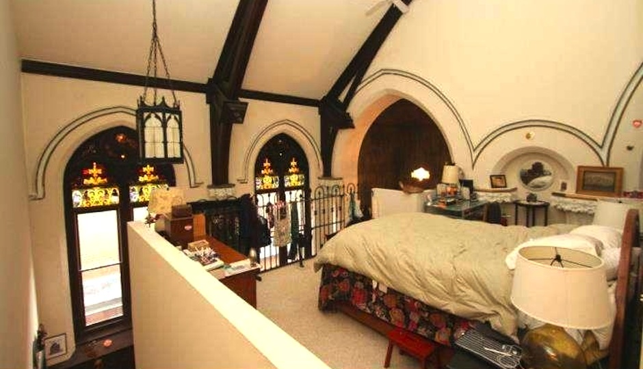 reduced loft apartment in former manayunk church property