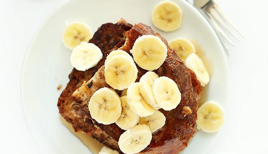 5-Ingredient Vegan Banana French Toast