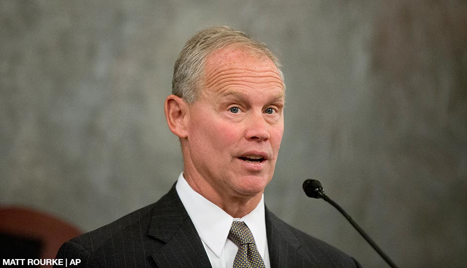 Speaker of the Pennsylvania House of Representatives, Rep. Mike Turzai, R-Allegheny, speaks Tuesday, Jan. 6, 2015, at the state Capitol in Harrisburg, Pa.