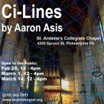 """From Property:After years of sitting in quiet disuse, theSt. Andrew's Collegiate Chapel at Spruce and 42nd will open its doors to the public for a three-day-only installation by artist Aaron Asis called """"Ci-Lines.""""Given that the site-specific pieceis inconjunction with Art in the Open, an exhibit by the University City Arts League that celebrates artists """"and their relationships with the urban environment,"""" the long-shuttered chapelseems like the perfect spot to have it.More here."""