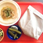 Cabbage hummus plate at Dizengoff.