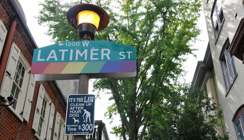 Gayborhood sign