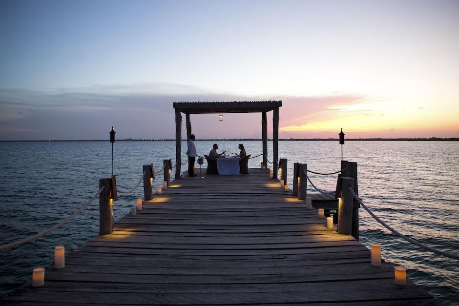 The dinner pier at Nizuc