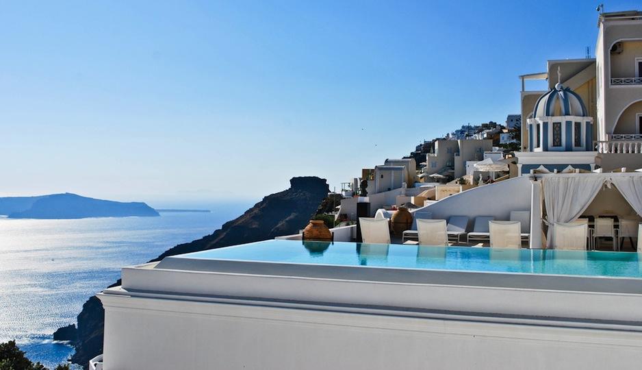We'll take one honeymoon in Santorini, please! Shutterstock.