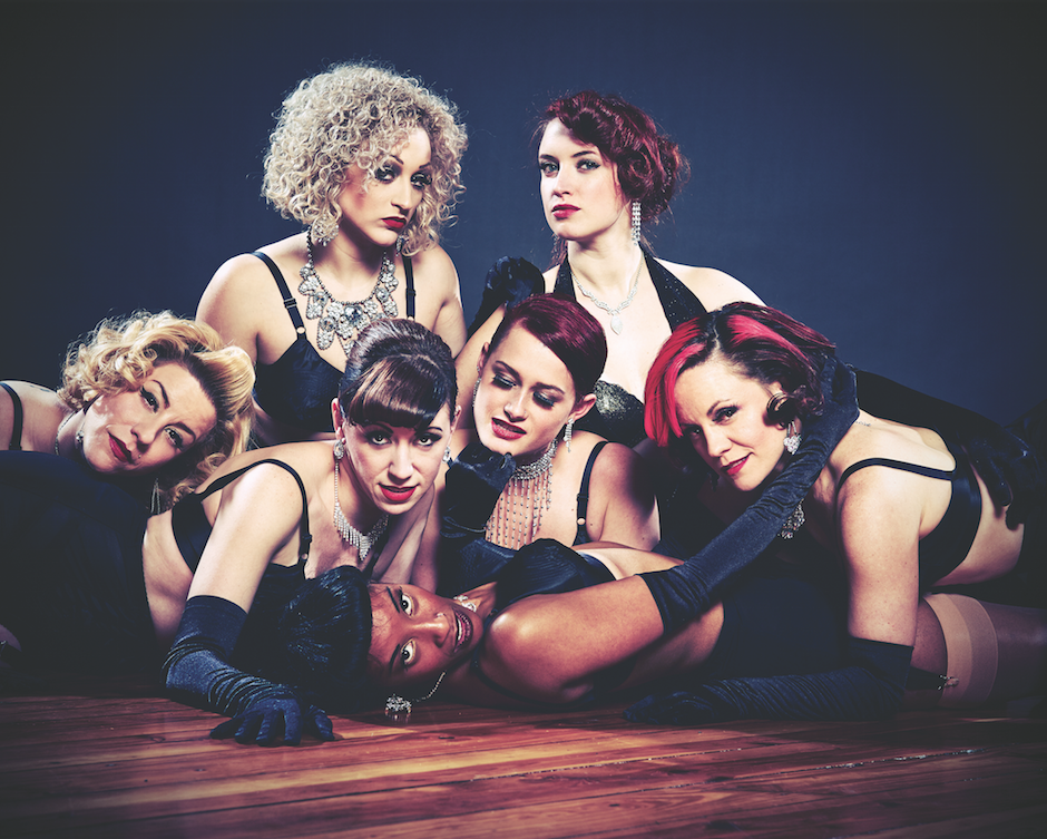 Peek-a-Boo Revue perform at World Café Live on Valentine's Day.