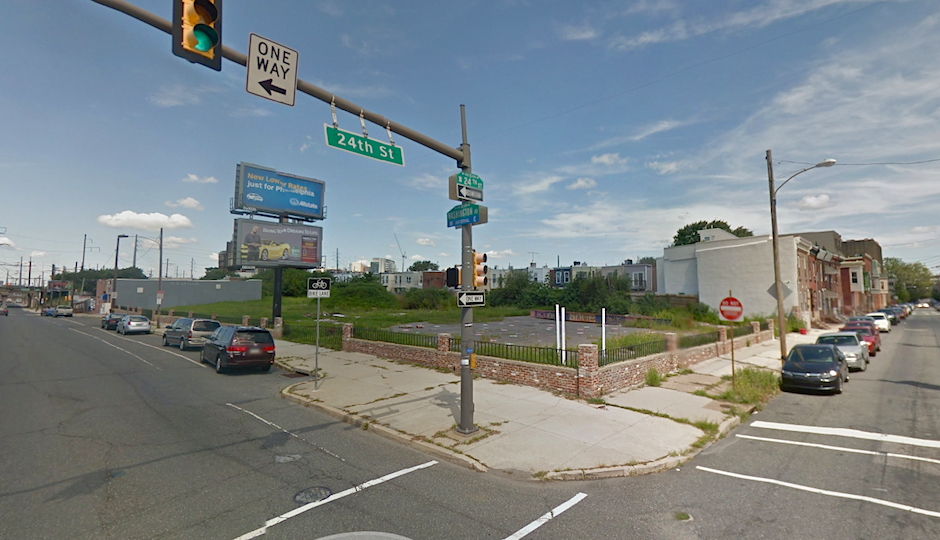 The site at 2401 Washington Ave. as of August 2014 | Image via Google Street View