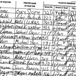 Signatures from former state Rep. Babette Joseph's nominating petitions.