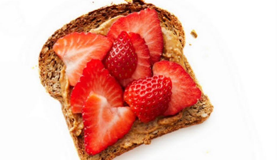 Strawberry and Peanut Butter Toast