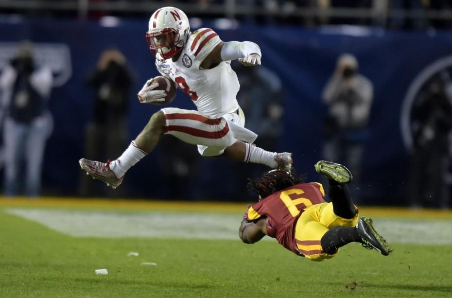 Nebraska running back Ameer Abdullah. Photo courtesy of USA Today.