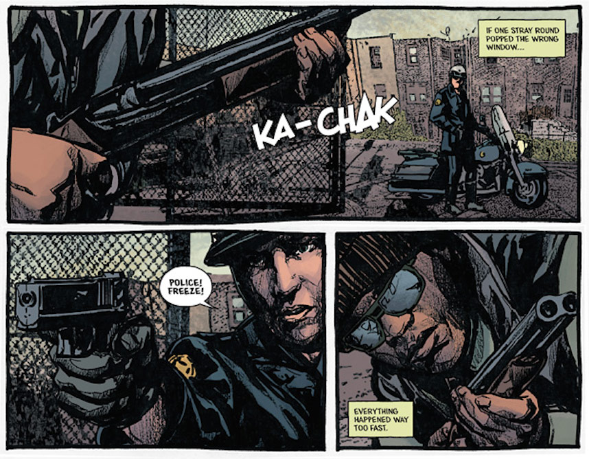 Panels from Black Hood No. 1, courtesy of Archie Comics