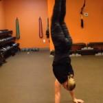 burpee handstand
