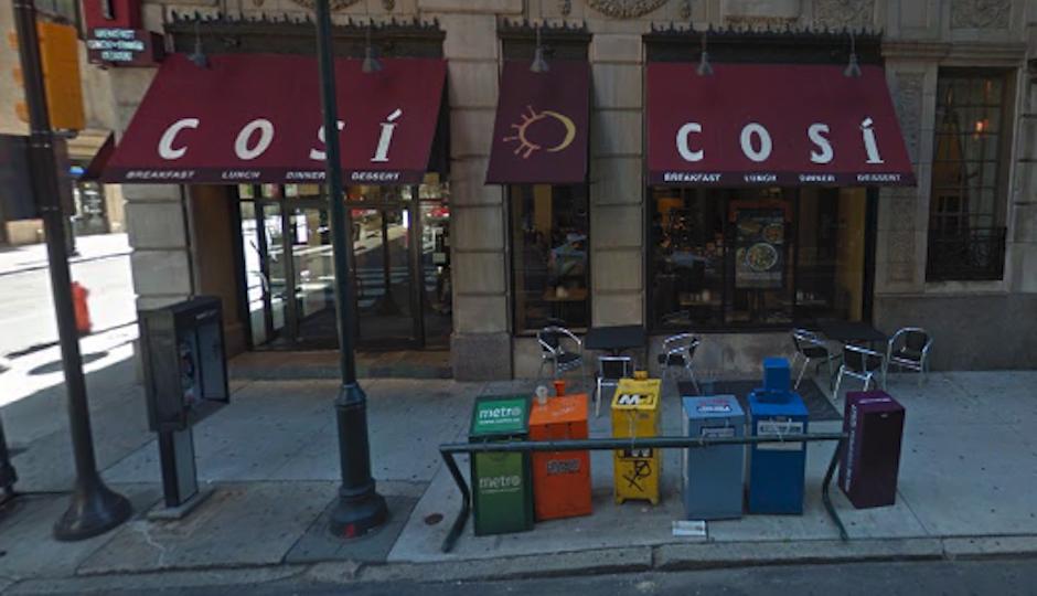 Cosi at 235 South 15th Street, via Google Maps