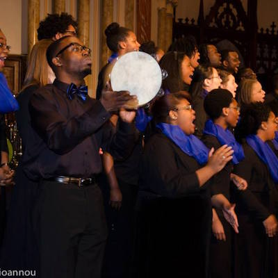 The Drexel University Gospel Choir performs TK.