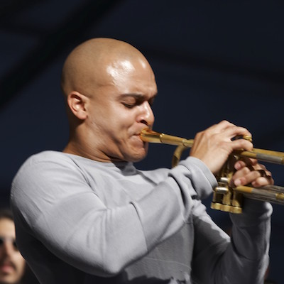 Irvin Mayfleld performs with the New Orleans Jazz Orchestra on TK.