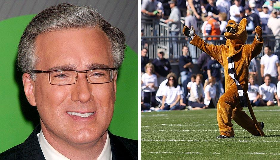 Keith Olbermann | Everett Collection / Shutterstock.com Nittany Lion | Richard Paul Kane / Shutterstock.com